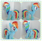 Rainbow Dash in turquoise by GreenTeaCreations