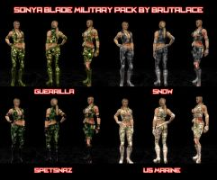 Sonya Blade Military Pack (4 Camo patterns) by BrutalAce