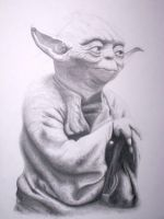 Yoda Portrait by DAVEAC1117