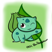 001. Bulbasaur by Kina-Maaka