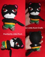 Pantherlily from Fairy Tail chibi plush by lkcrafts