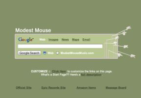 Modest Mouse Startpage by AwesomeStart