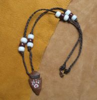 Arrowhead pawprint necklace by lupagreenwolf