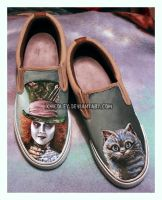 Wonderland Painted Shoes by xnicoley