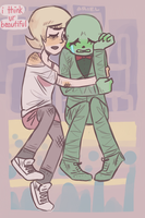 Calliope and Roxy by GhostlyStatic