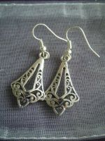 Silver earrings ''Goutte'' by Dedechoutinette