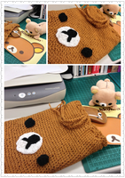 Rilakkuma Crochet Cinch Bag by Demi-Plum