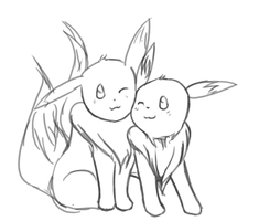 eevees are so moe by DustBunnyThumper