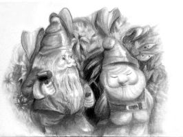 Lawn gnomes lol by tehrin