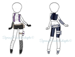 Naruto Outfit Adopts 6 (CLOSED) by SpringPeachAdopts