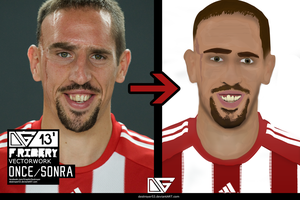 Vector Work | F.Ribery by destroyer53