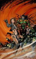 Witchblade and Darkness by Ronron84