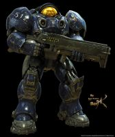 Terran Marine With Gun by SgtHK