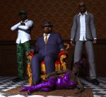 Big Daddy, Violetta  and Bodyguards by xmas-kitty