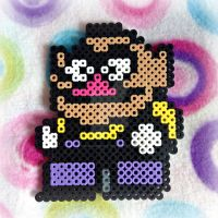 (Little) Wario Perler Bead Sprite by MadameWario