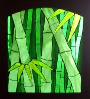 bamboo stained glass by CindyCrowell