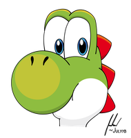 Yoshi's head by Juliannb4