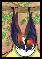 Flying Fox Totem by Ravenari