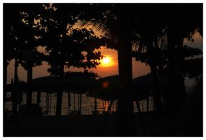 sunset in pattaya by canobees
