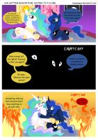 MLP Sun Setting Misfortune: Sisters to a Flame by teammagix