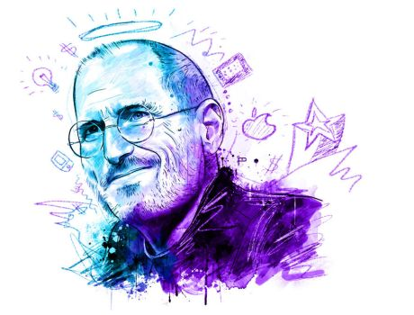 Steve Jobs portrait by Prestegui