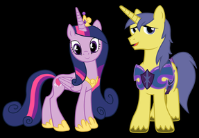Twilight Sparkle and Comet Tail Alternate Version by 3D4D