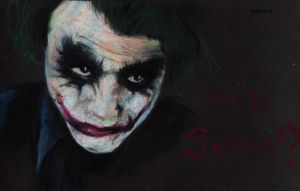 Why so serious? Heath Ledger as the Joker. by Shinigami-uta