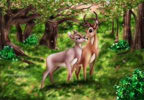 Bambi and Faline by Mareishon