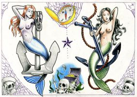 Nautical Tattoo Flash by Ignitron