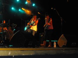 The Sunny Cowgirls on Stage by Shame-On-The-Night