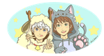 Cat and Aries by Laven96