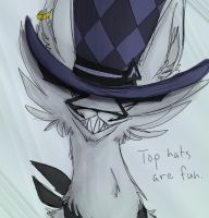 """Top Hats are Fun"" by tricksterwolf13"