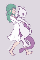 Ai and Mewtwo 1 by PiraticOctopus