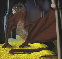 Smaug the Stupendous by LupusDream