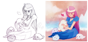 PrincessBubbleGum with Seals...CollabWithRewalkz by Kiuow