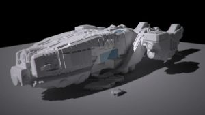 WIP: UAC Dropship Hopper by Cold-Levian