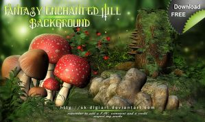 Fantasy Enchanted Hill Background by SK-DIGIART