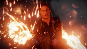 inFAMOUS Second Son-Delsin smoke swirling at night by doublezz01