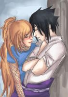 Amaya and Sasuke :AT: by FrostedTea