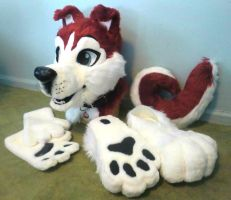 Tonto the Red Husky Fursuit by TwerkOnThatShark