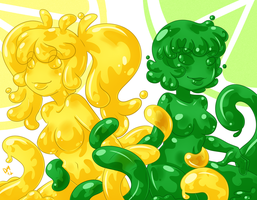 Slime Girl - Lemon Limes by deeum