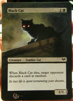 Altered card - Black cat by JohannesVIII