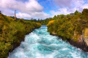 Huka Falls - New Zealand - HDR by sebabes