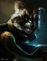 Rocket Raccoon - Gaurdians of the Galaxy - FAN ART by lukemandieart