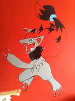 Zoroark wall painting by Cachomon