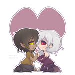 [ YCH ] Chibi Couple for Vesocile by Nekonym