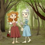Sisters in the Forest by savivi