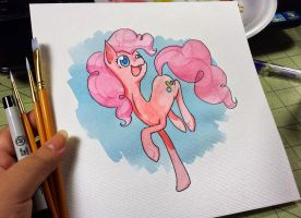 Pinkie Pie Watercolor by bloominglove