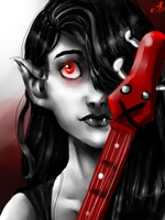 Marceline the Vampire Queen by TheHomicidalPigeon