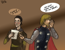 Hiddlesworth - Day 3: playing Thorki by ilcielocapovolto
